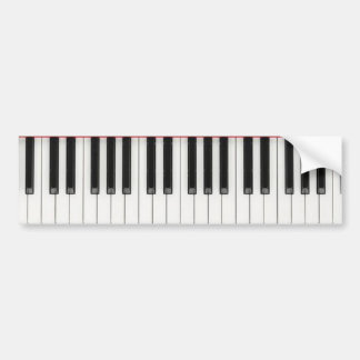 Piano Keyboard Keys Bumper Sticker