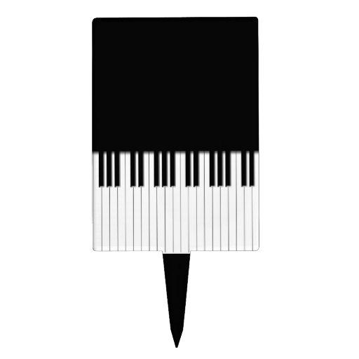 Piano Keyboard Keys Cake Topper