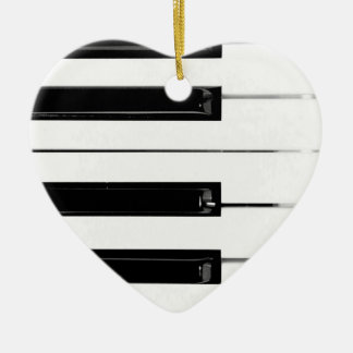 Piano Keyboard Keys Ceramic Ornament