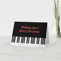 Piano Keyboard Keys Christmas Card