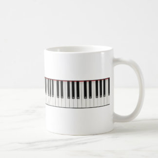 Piano Keyboard Keys Coffee Mug