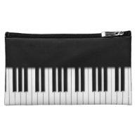 Piano Keyboard Keys Cosmetics Bags
