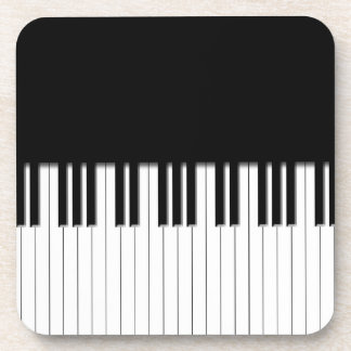 Piano Keyboard Keys Drink Coaster