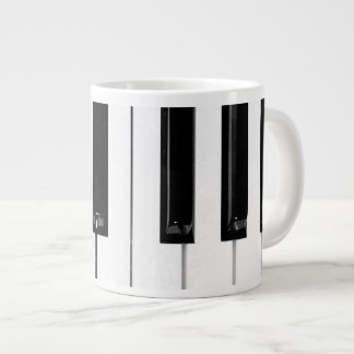 Piano Keyboard Keys Giant Coffee Mug