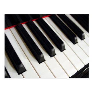 Piano Keyboard Keys Postcard