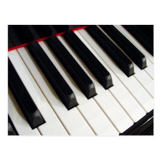 Piano Keyboard Keys Postcard