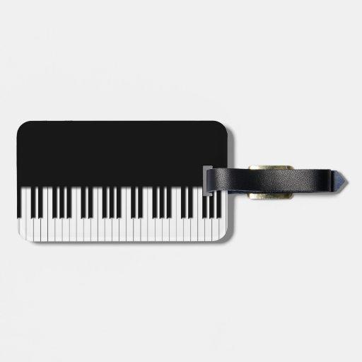 Piano Keyboard Keys Tags For Bags