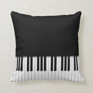 Piano Keyboard Keys Throw Pillow