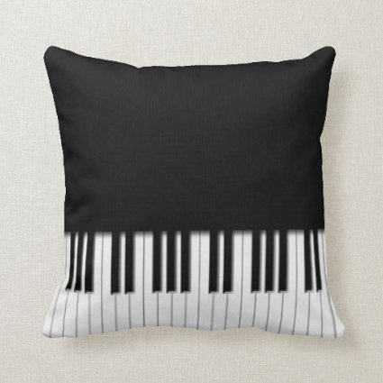Piano Keyboard Keys Throw Pillow