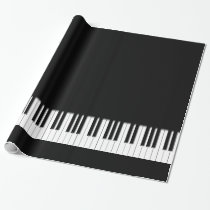 Piano Keyboard Keys Wrapping Paper