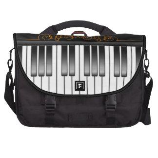 Piano Keyboard Laptop Messenger Bag