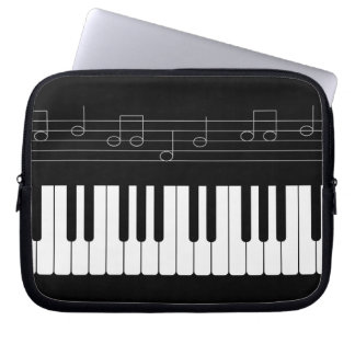 Piano keyboard laptop computer sleeve