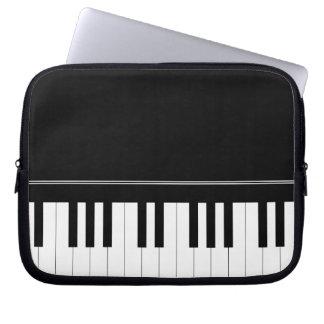 Piano keyboard computer sleeve