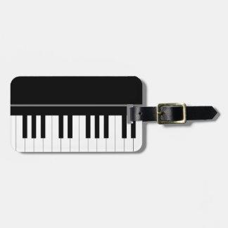 Piano keyboard bag tag