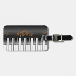 Piano Keyboard Luggage Tag