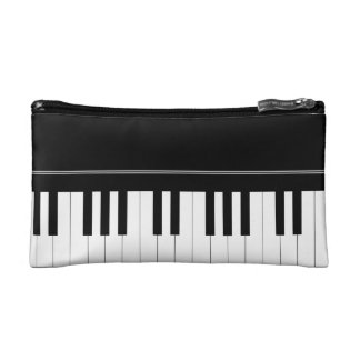 Piano keyboard makeup bags