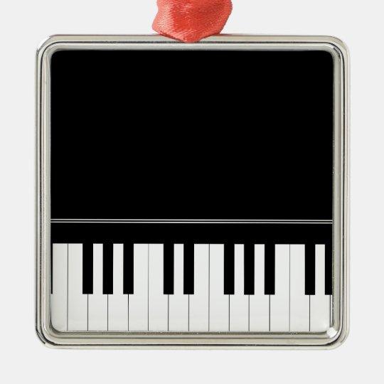Piano keyboard metal ornament