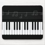 Piano keyboard mouse pad