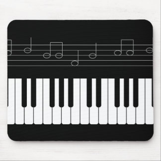 Piano keyboard mouse pad