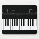 Piano keyboard mouse pads