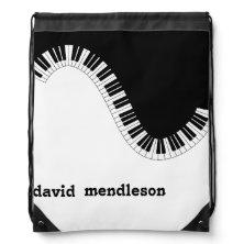 piano keyboard music backpack