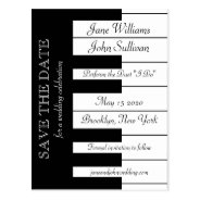 Piano Keyboard Music Themed Wedding Save The Date Postcard at Zazzle