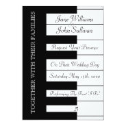 Piano Keyboard Music Wedding Invitation at Zazzle