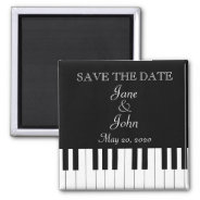 Piano Keyboard Music Wedding Save The Date 2 Inch Square Magnet at Zazzle