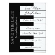 Piano Keyboard Music Wedding Save The Date Invite at Zazzle