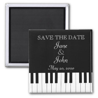 Piano Keyboard Music Wedding Save The Date Magnet at Zazzle