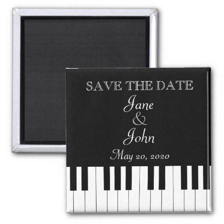 Piano Keyboard Music Wedding Save The Date Magnet