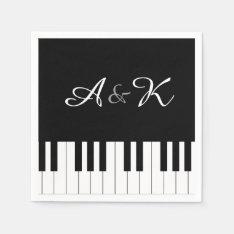 Piano Keyboard Music Wedding Set 50 Paper Napkins at Zazzle