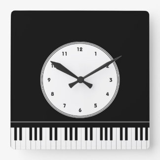 Piano keyboard musical wall clock