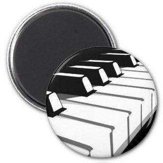 Piano Keyboard no2 2 Inch Round Magnet
