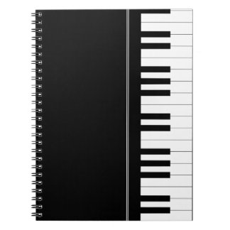 Piano keyboard note book