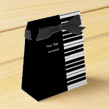 Piano Keyboard Party Favor Box