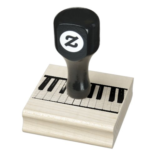 Piano Keyboard Photo Rubber Stamp