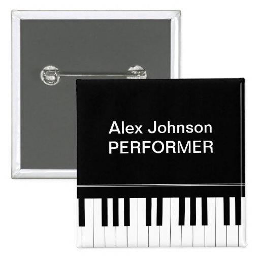 Piano keyboard pin