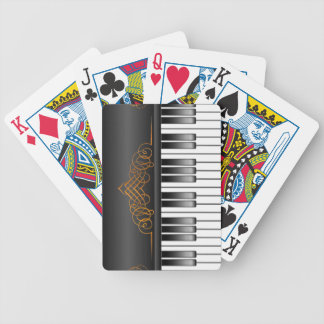 Piano Keyboard Bicycle Card Deck