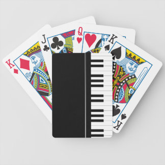 Piano keyboard bicycle playing cards