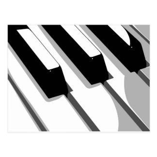 Piano Keyboard Pop Art Postcard