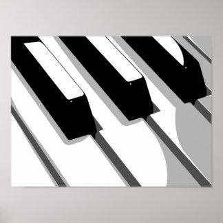 Piano Keyboard Pop Art Print