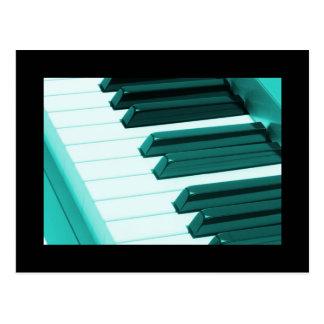 Piano Keyboard Postcard