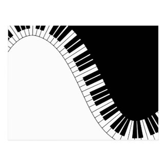 Piano Keyboard Postcard