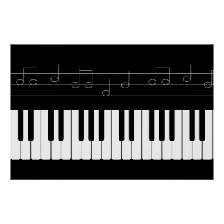 Piano keyboard poster