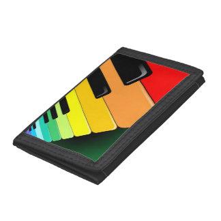 Piano Keyboard Rainbow Colors Wallet