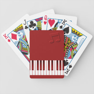 Piano Keyboard - Red Bicycle Playing Cards