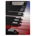 Piano Keyboard Red White and Blue Clipboard