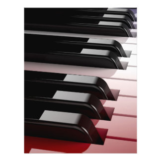 Piano Keyboard Red White and Blue Flyer
