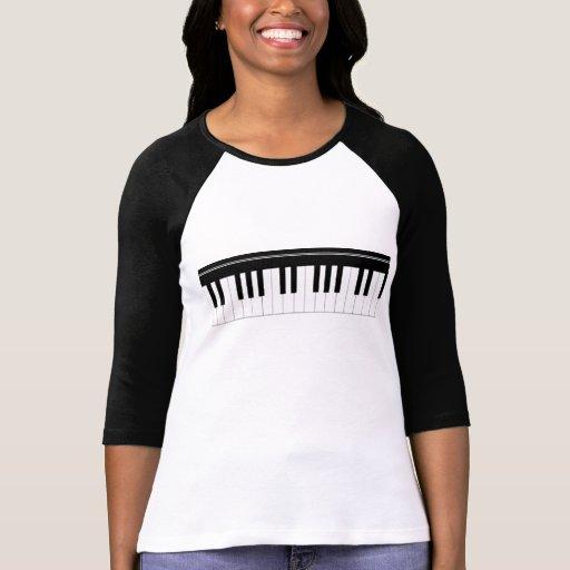 Piano keyboard shirt